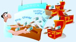 Elnät, Elhandel, Skatter & avgifter